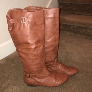EUC Chinese Laundry Nice Shot Brown Riding Boots
